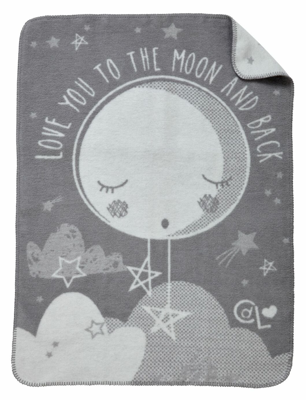 Clair de Lune Over The Moon Fleece Blanket