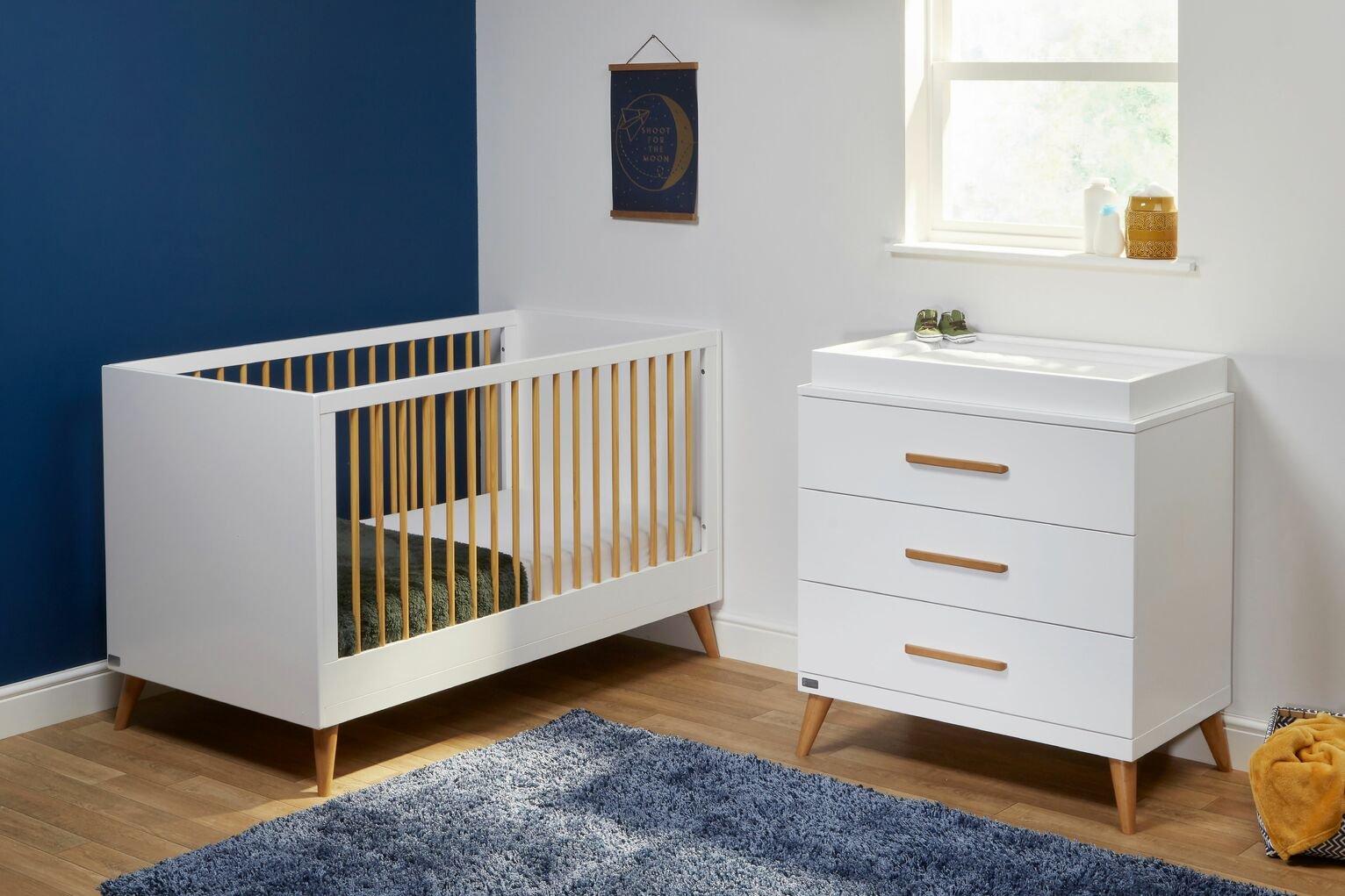 East Coast Nursery Panama Cot Bed and Dresser Room Set