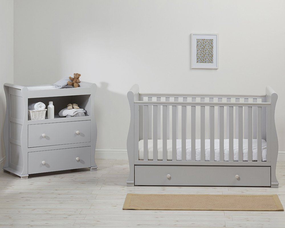East Coast Nursery Alaska Cotbed and Dresser Room Set - Grey