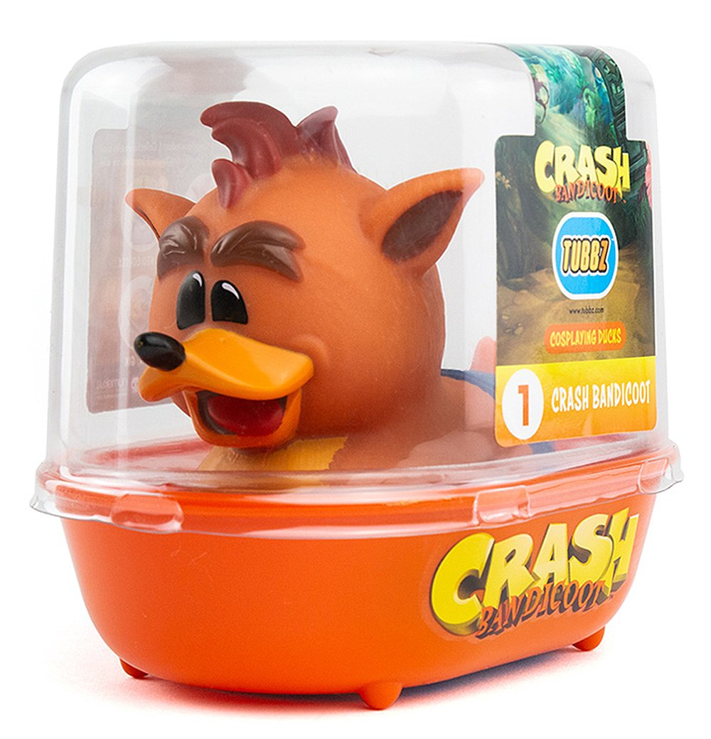 Tubbz Collectable Crash Bandicoot Rubber Duck - Crash