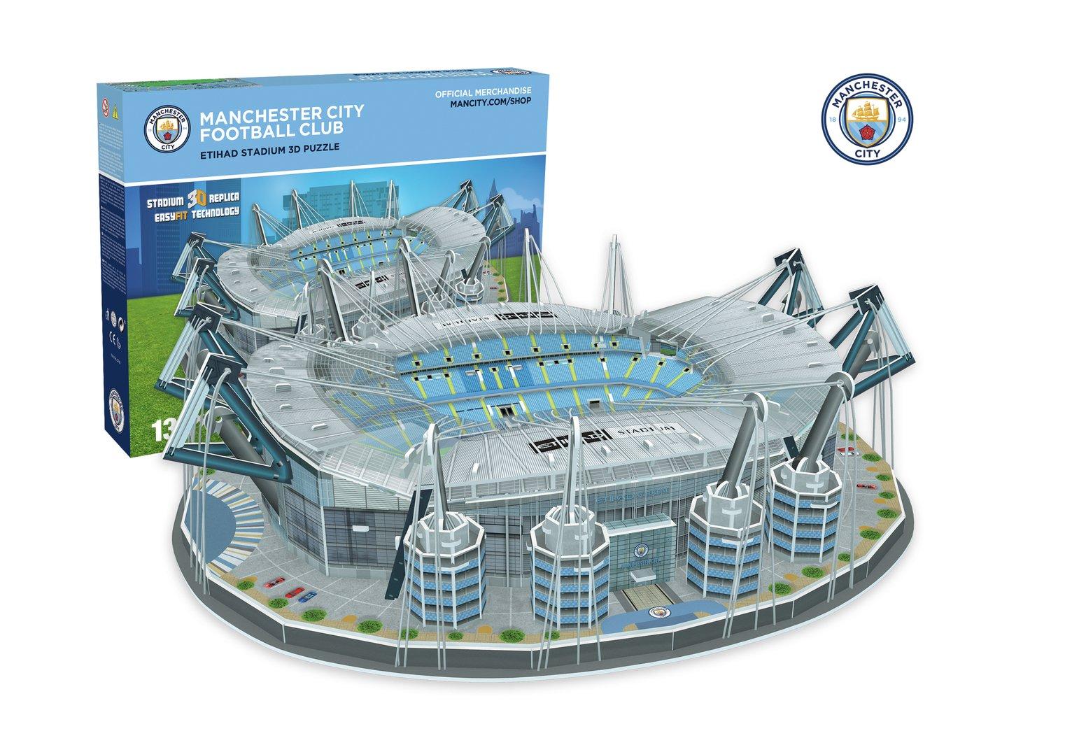 Manchester City 3D Football Stadium 132 Piece Jigsaw Puzzle
