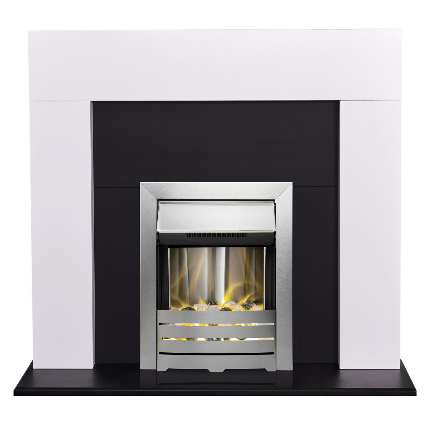 Adam Miami Electric Fire Suite - White
