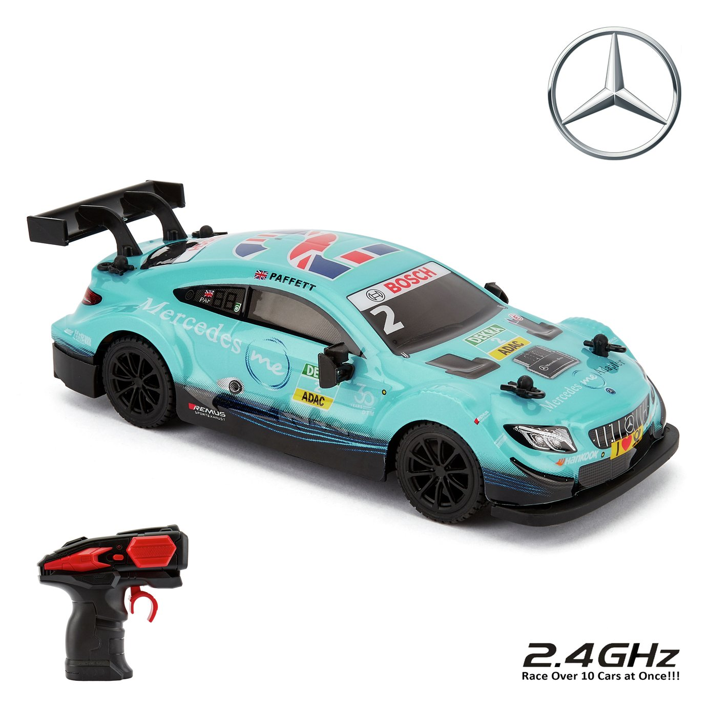 CMJ RC Cars 1:24 Scale Radio Controlled Mercedes - Blue