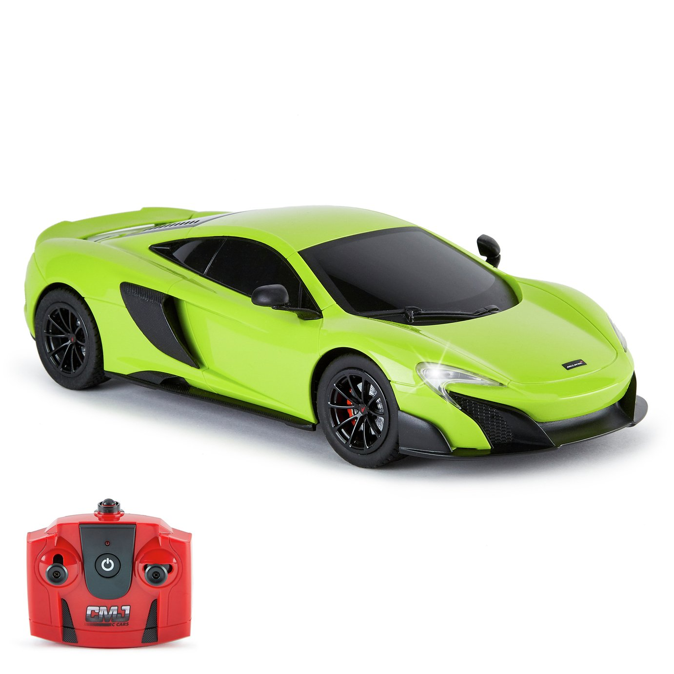 CMJ RC Cars 1:18 Radio Controlled McLaren 675LT Coupe- Green