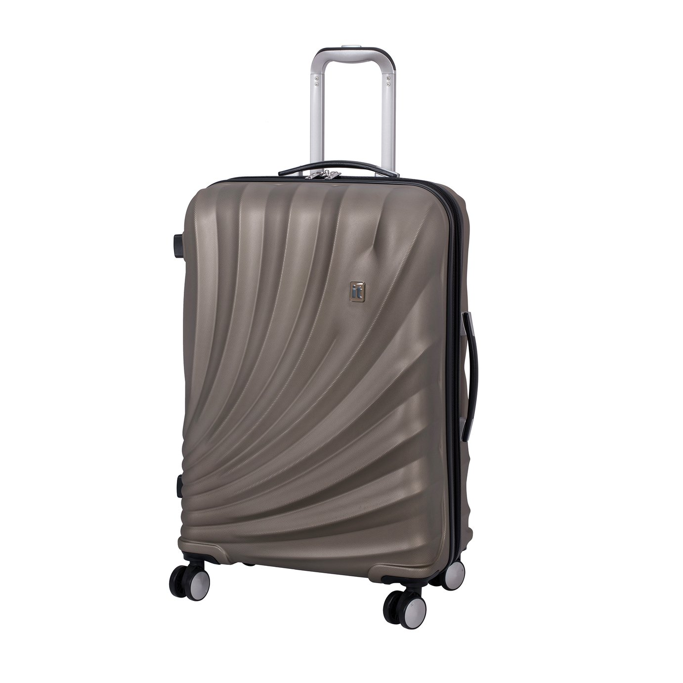 it Luggage Pagoda Medium Expandable 8 Wheel Suitcase - Gold