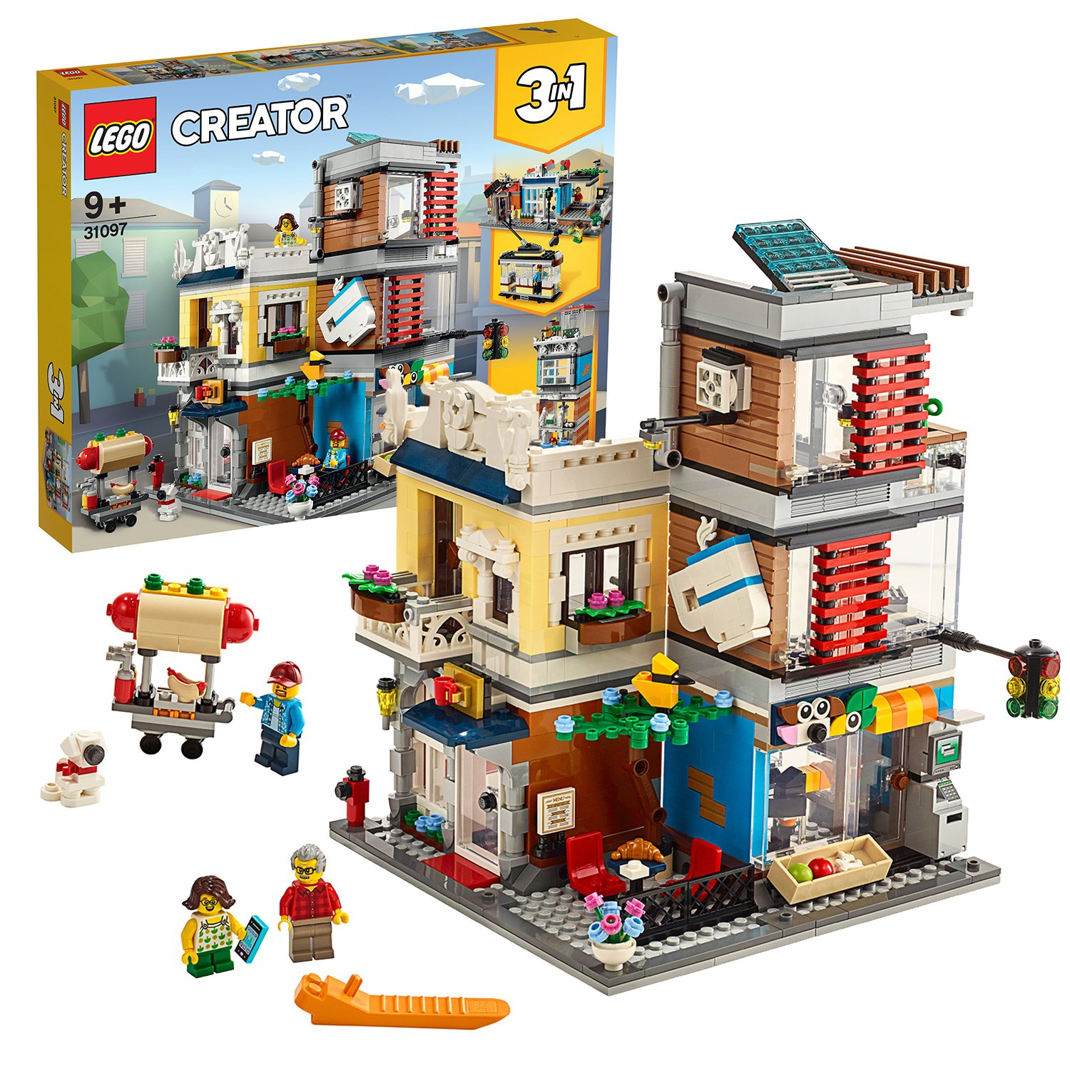 LEGO Creator Townhouse, Pet Shop and Cafe - 31097