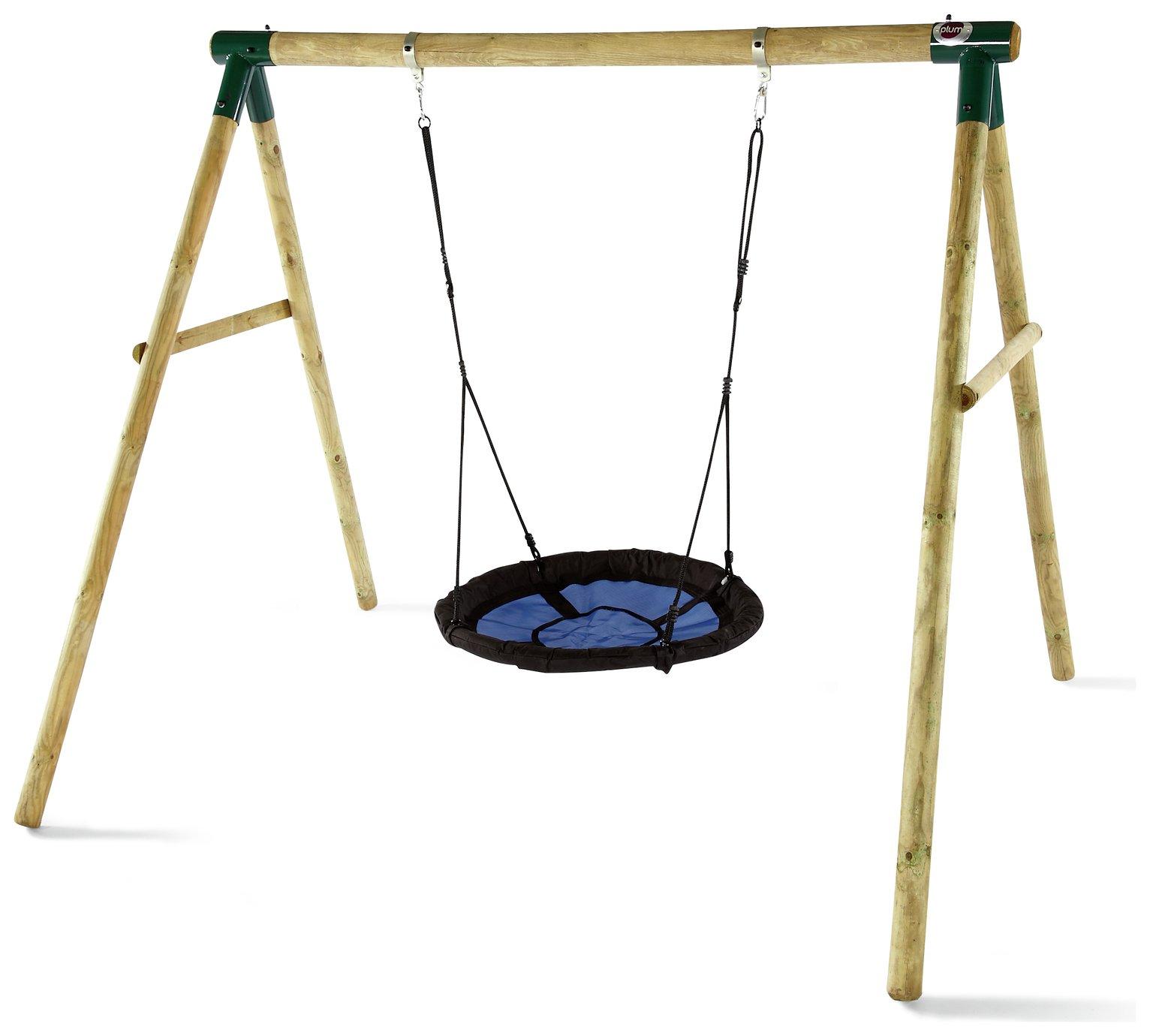 Plum Spider Monkey II Wooden Garden Swing Set.