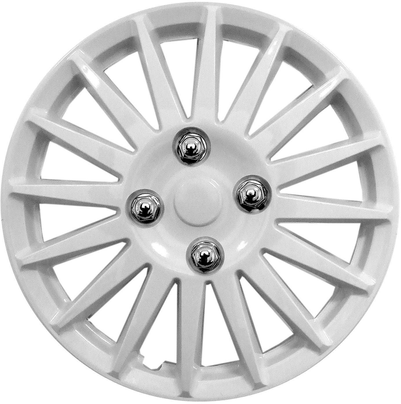 Streetwize 14 Inch White Gloss Wheel Trims