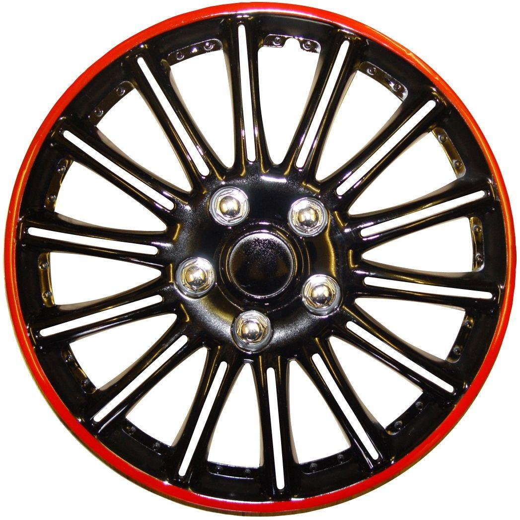 Image of Cosmos - Booster 15-inch Wheel Trim Set - Black and Red