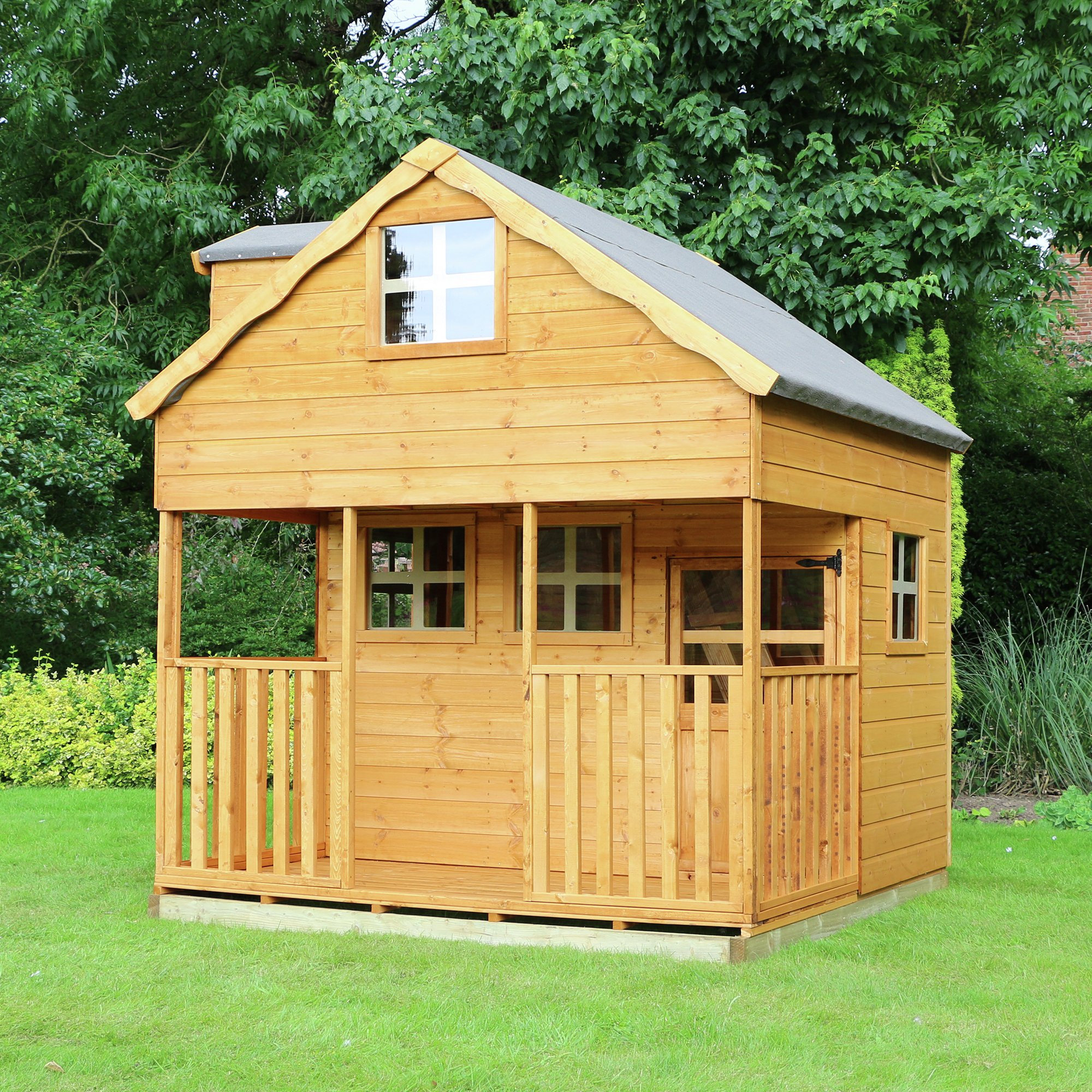 Mercia 7ft x 7ft Double Storey Dorma Playhouse.