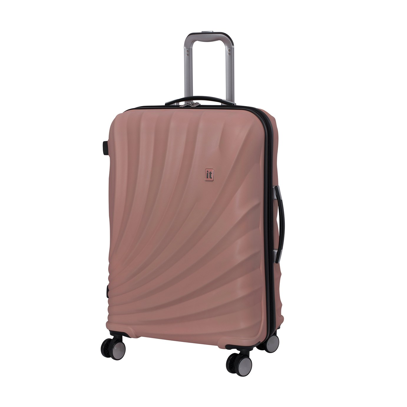 it Luggage Pagoda Medium Expandable 8 Wheel Suitcase - Pink