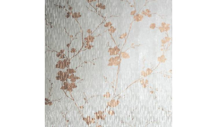 Sublime Theia Blossom Rose Gold Wallpaper