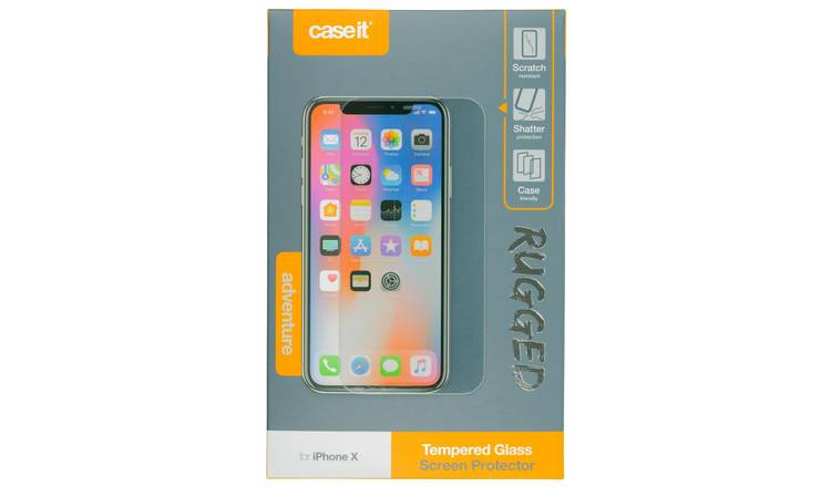 Case It Rugged iPhone 11 Pro /XS/XS Glass Screen Protector