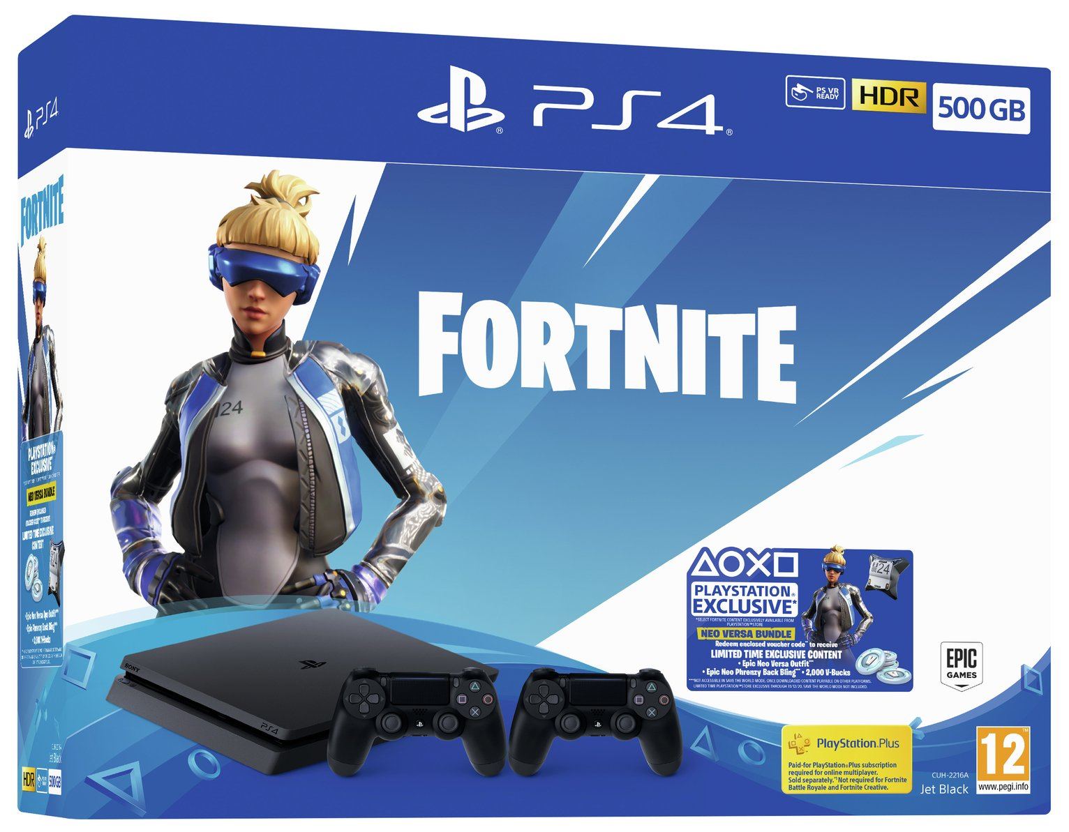 Sony PS4 500GB Console & Fortnite Neo Versa Bundle