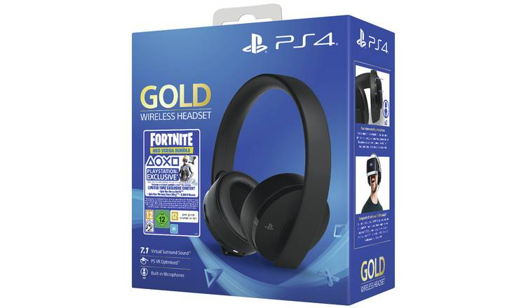 Sony Fortnite Wireless PS4 Headset Bundle - Gold