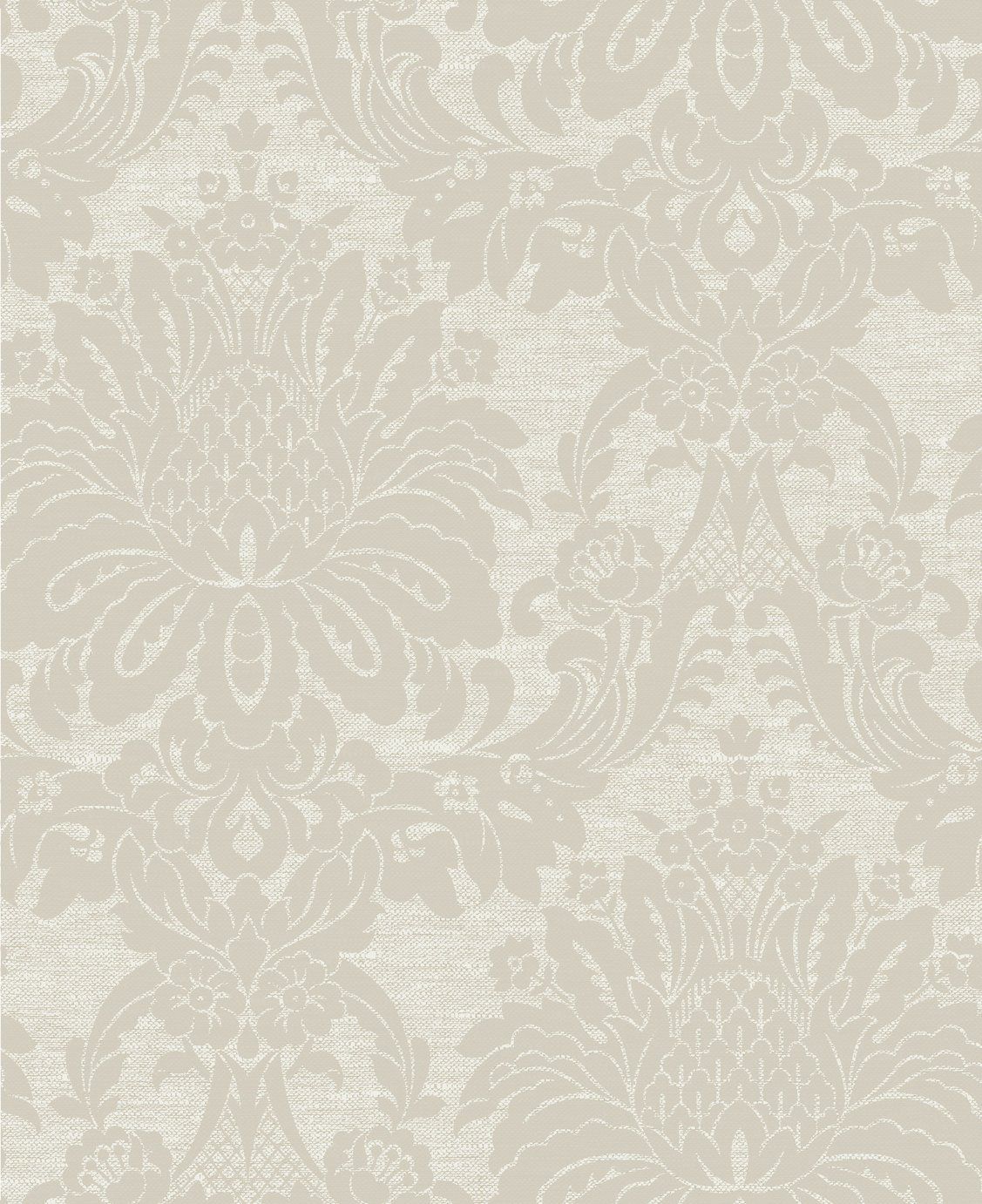 Boutique Vogue Damask Taupe Wallpaper