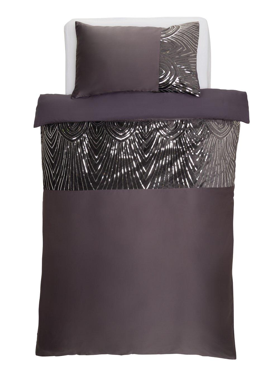 Argos Home Slate Sequin Bedding Set - Single