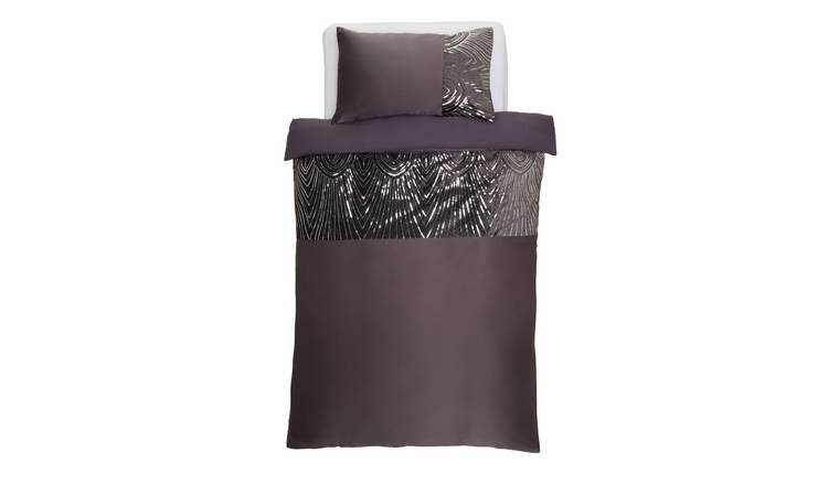 Argos Home Slate Sequin Bedding Set - Single