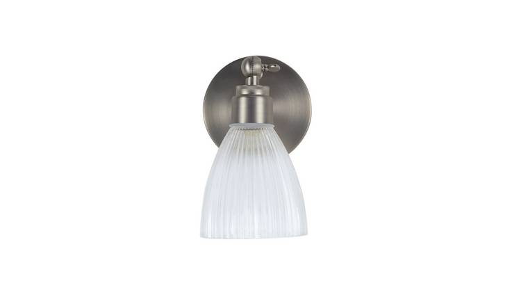 Argos Home Le Marais Pressed Glass Wall Light - Chrome