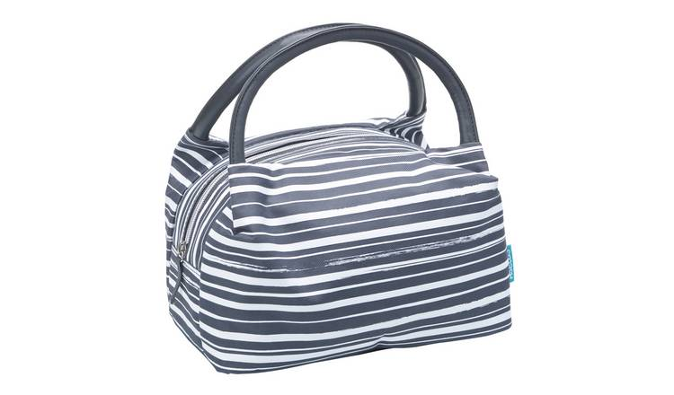 Stripe Charcoal Paddington Lunch Bag