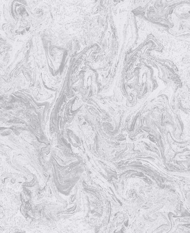 Sublime Marbelicious Grey Silver Wallpaper