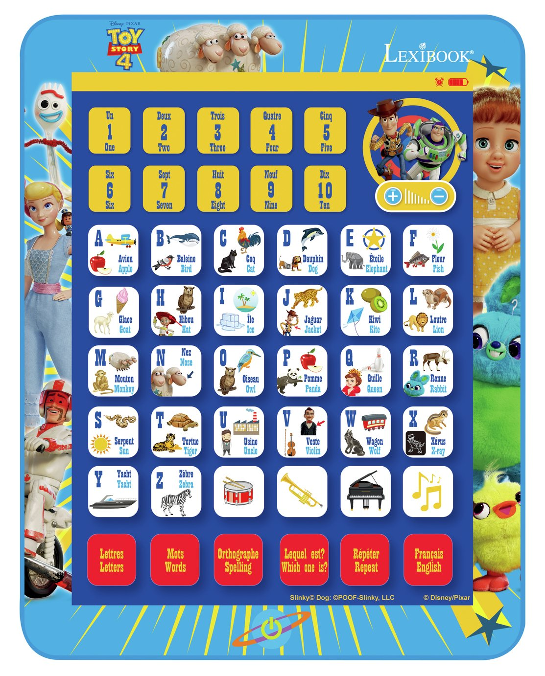 Toy Story Educational Bilingual Interactive Learning Tablet