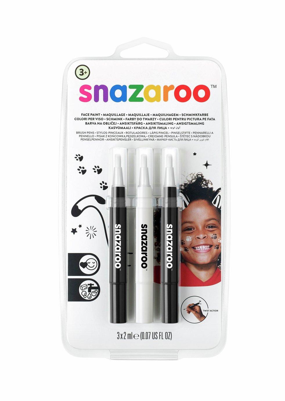 Snazaroo Brush Pen Monochrome Set