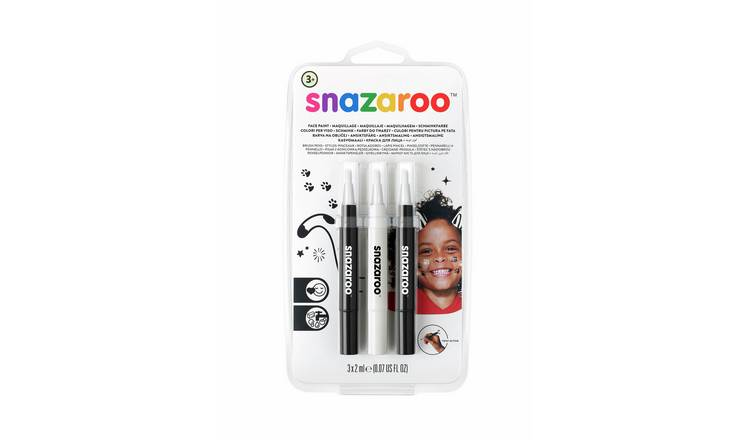 Snazaroo Brush Pen Monochrome Set