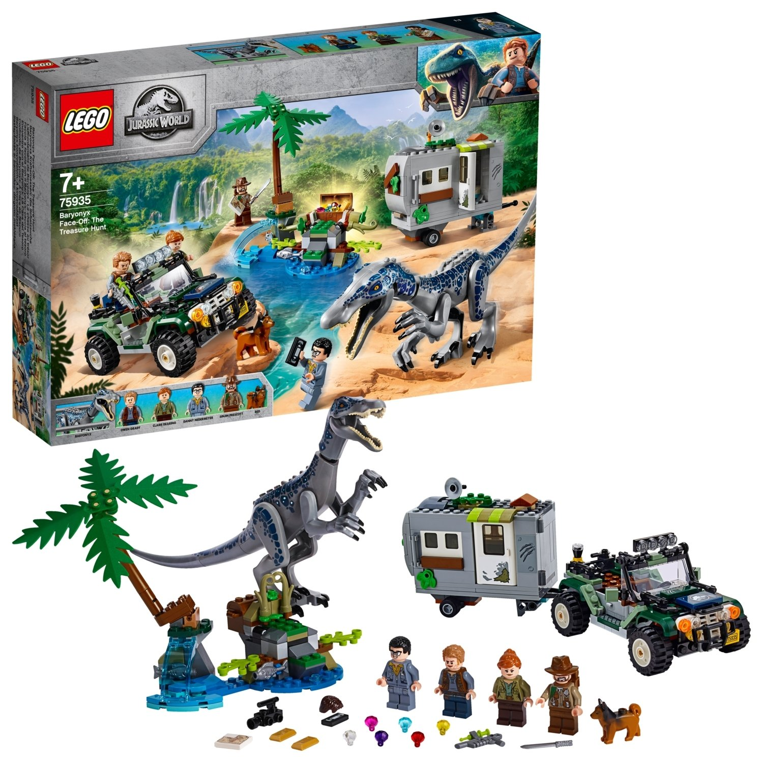 LEGO Jurassic World Baryonyx Face-Off Treasure Set 75935