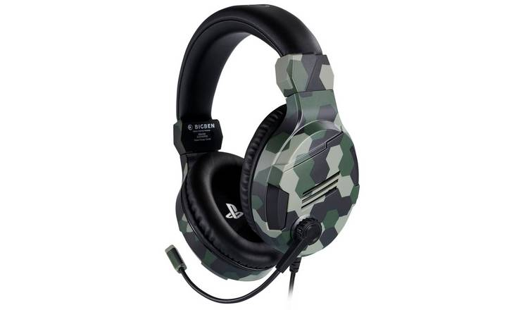 Buy Official V3 PS4, PC Headset Camo Green | Gaming headsets | Argos