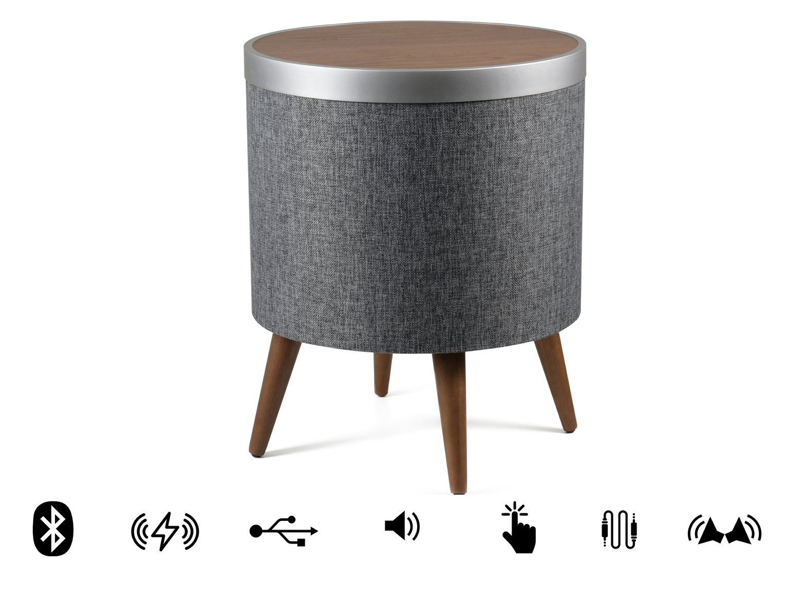 Koble Zain wireless charging Bluetooth Occassional Table