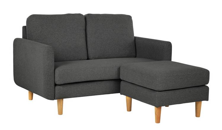 Buy Argos Home Remi 2 Seater Fabric Chaise in a Box - Charcoal | Sofas |  Argos