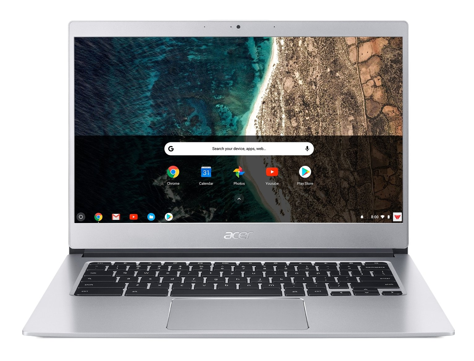 Acer CB514 14in Celeron 4GB 32GB HD Chromebook - Silver