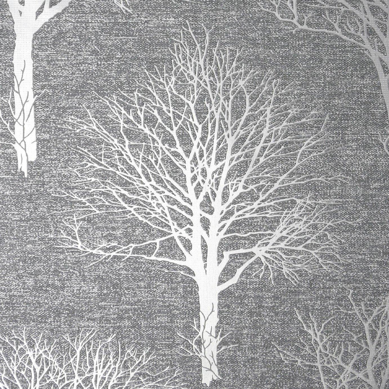 Boutique Landscape Charcoal Wallpaper