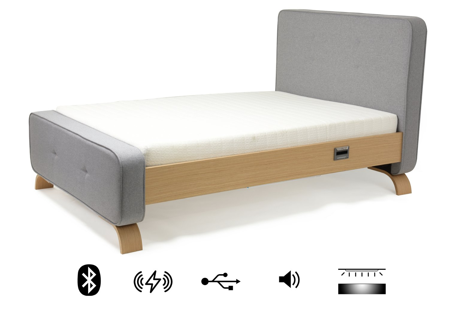Koble Sove wireless charging Bluetooth Double Bed Frame