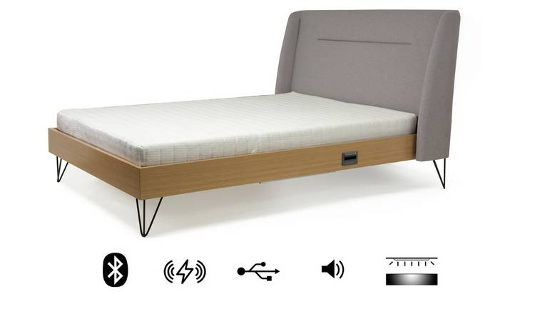 Koble Snor wireless charging Bluetooth Double Bed Frame-Grey