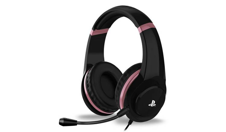 4Gamers Officially Licensed PS4 Headset - Rose Gold & Black