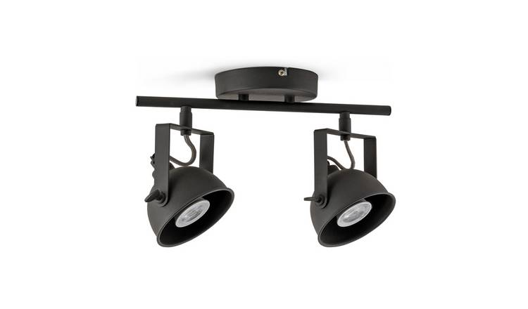 Argos Home Loft 2 Light Spotlight - Black