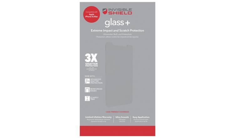 buy popular f1cdb 8bf64 Buy Zagg InvisibleShield Apple iPhone XS Max Screen Protector | Mobile  phone screen protectors | Argos
