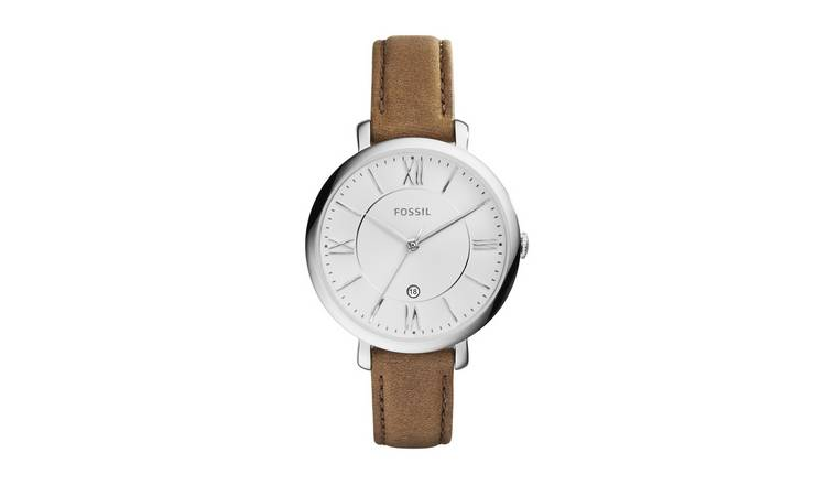 Fossil Ladies Jacqueline Brown Leather Strap Watch