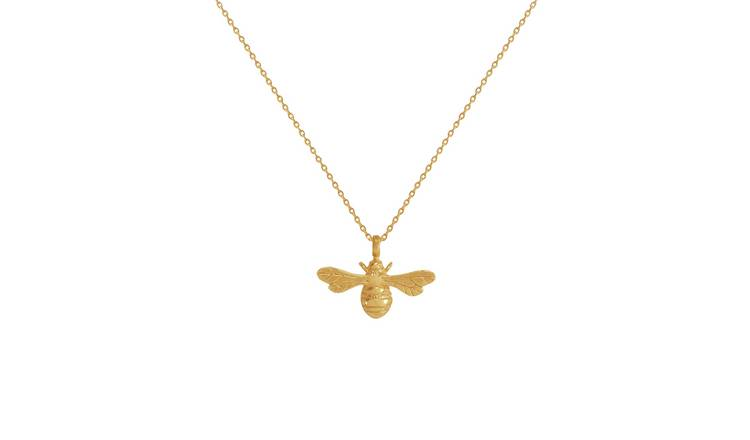 Revere 9ct Gold Plated Sterling Silver Bee Pendant Necklace