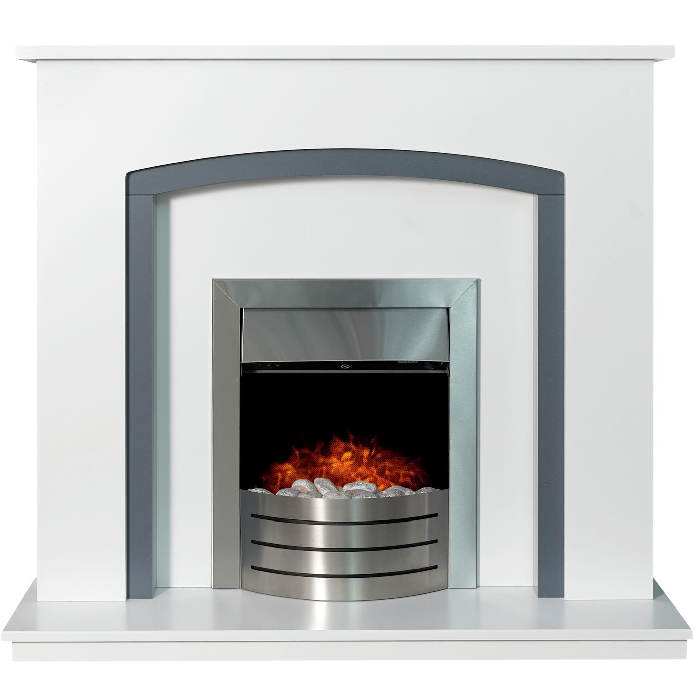 Adam Tuscany Electric Fire Suite with Comet - White