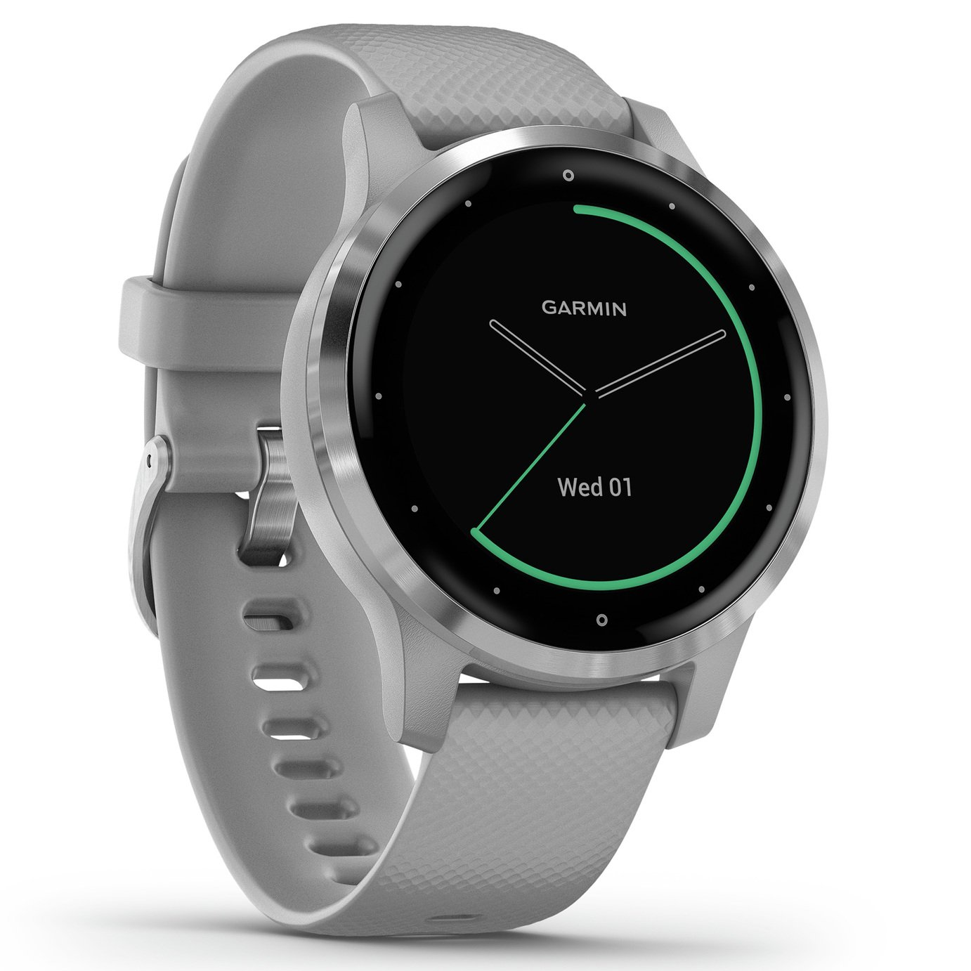 Garmin Vivoactive 4S GPS Smart Watch - S Steel / Grey Band