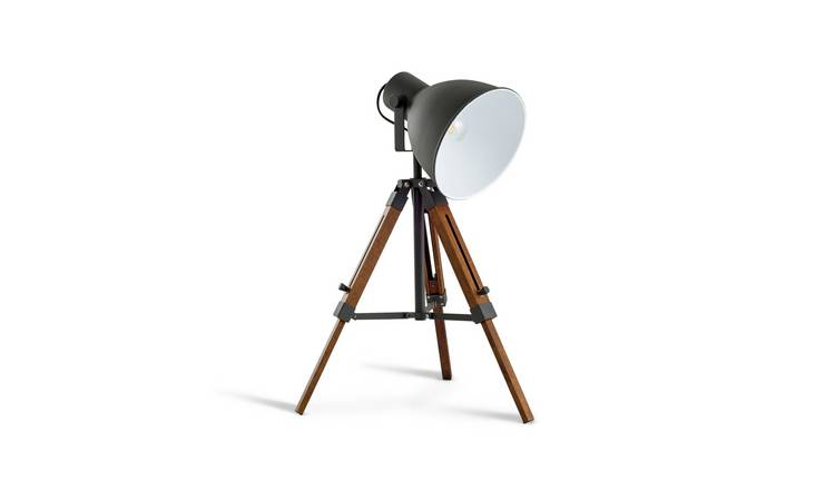 Argos Home Loft Living Tripod Table Lamp - Grey