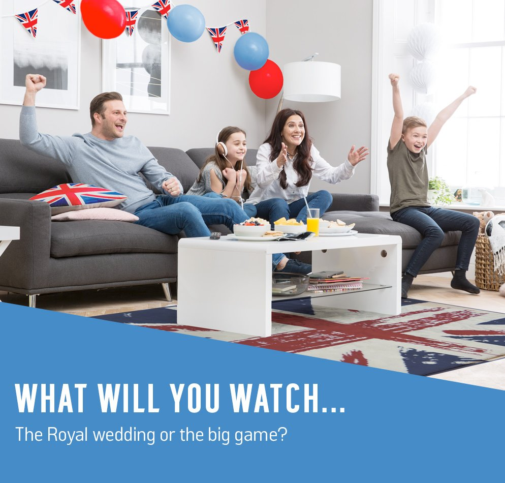 What will you watch... the Royal wedding or the big game?