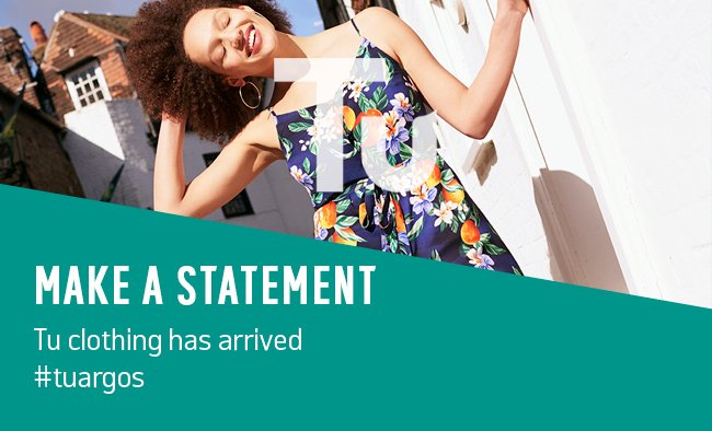 Make a statement. Tu clothing has arrived.