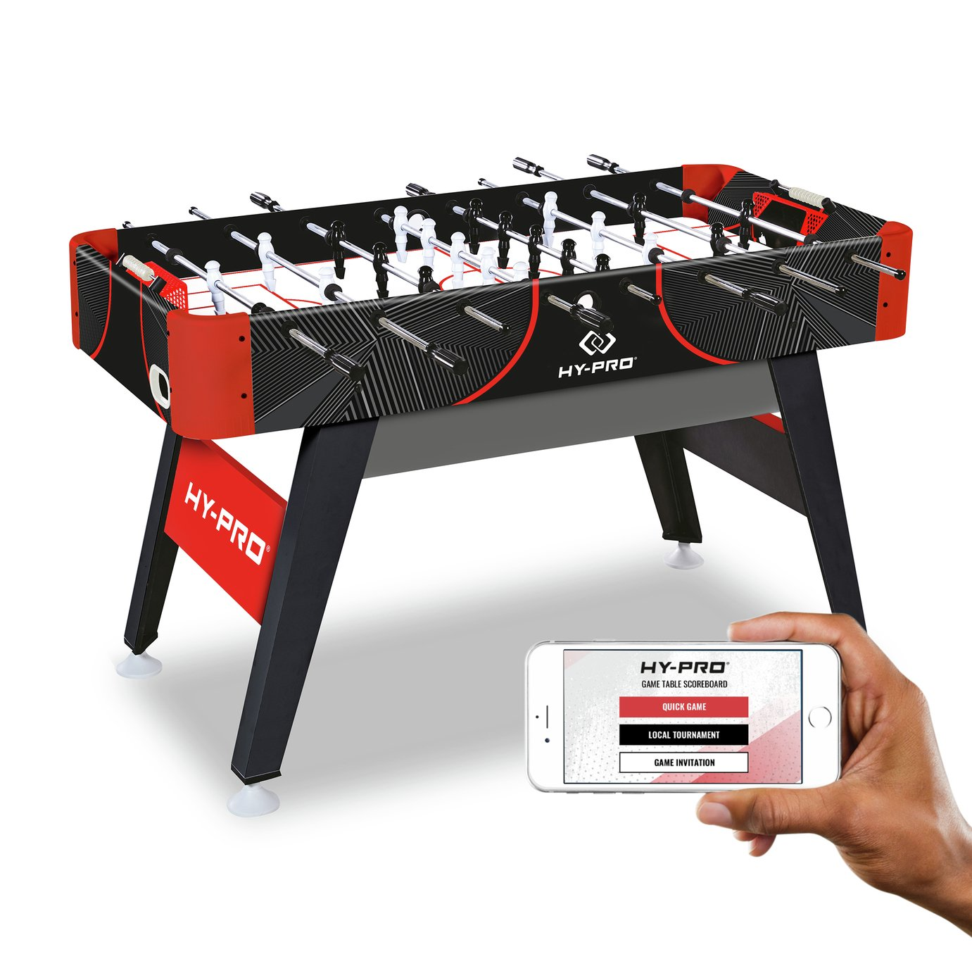 Hy-Pro Striker 4ft 6 Inch App Connected Football Table