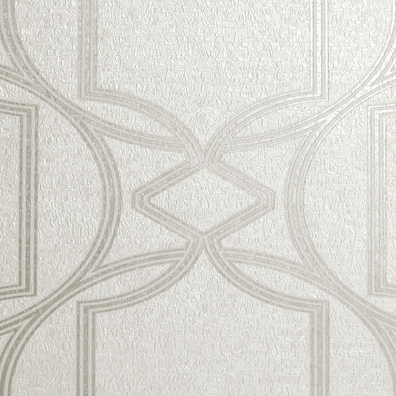 Boutique Deco Geometric Ivory Wallpaper