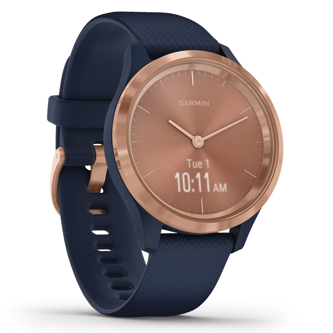 Garmin Vivomove 3S Smart Watch - Rose Gold/ Navy Band