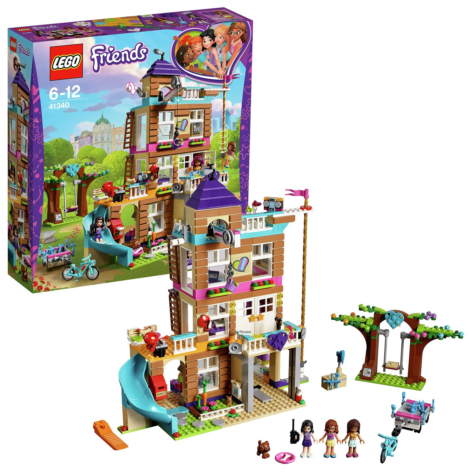 LEGO Friends Heartlake Friendship House Building Set - 41340